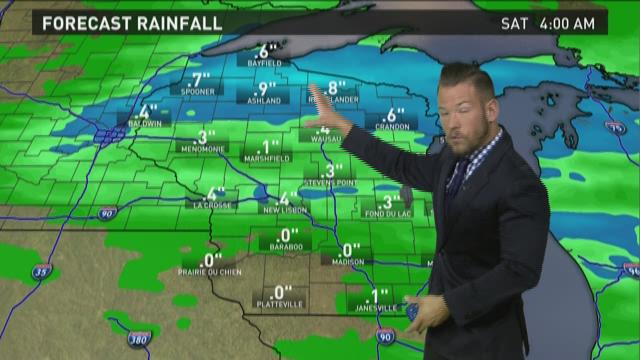 Wisconsin weather forecast for Thursday, Oct. 8