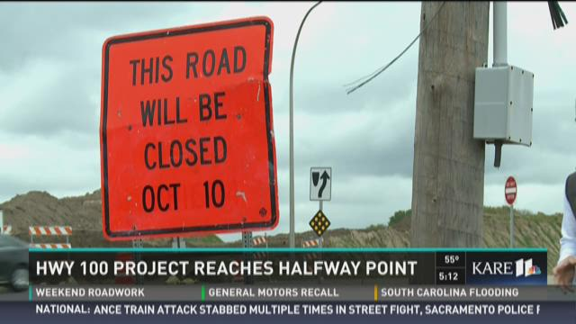 Hwy 100 project reaches halfway point
