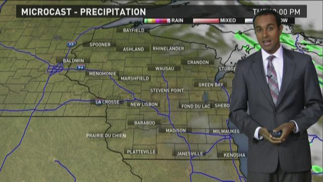 Wisconsin weather forecast for Tuesday, October 13