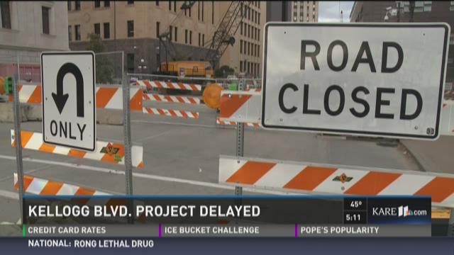 A multi-million dollar bridge reconstruction project along Kellogg Blvd. was supposed to wrap up next month, but the project has been delayed after some unexpected discoveries at the downtown site near Market Street.