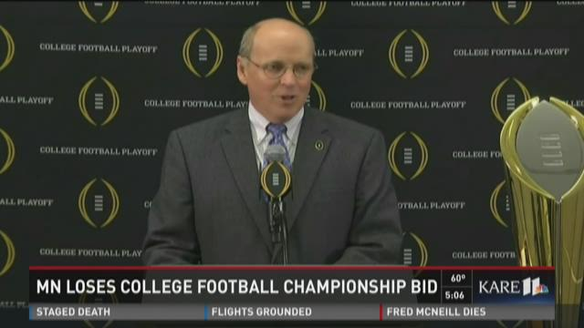 Minnesota loses College Football Championship bid