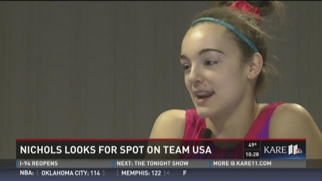 Gymnast Maggie Nichols shoots for the Olympics