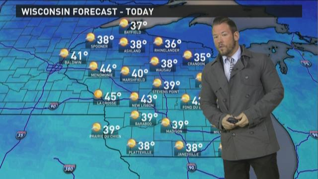 Wisconsin weather forecast for Tuesday, Nov. 24