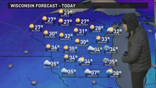 Wisconsin weather forecast for Friday, Nov. 27
