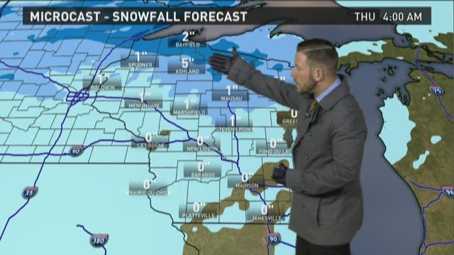 Wisconsin weather forecast for Tuesday, Dec. 1