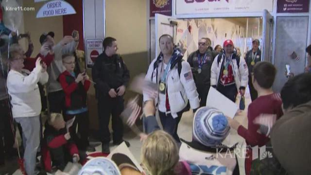 Gold medal #TeamShuster curlers welcomed home in Duluth